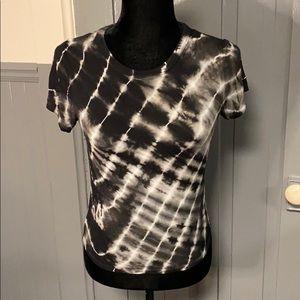 NWOT Love, Fire Black & Grey Tie Dye Crop Top